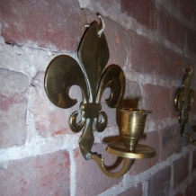 PAIR OF VINTAGE FLEUR DE LYS CANDLE SCONCES