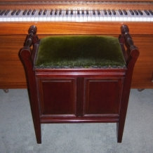 A FABULOUS EDWARDIAN PIANO STOOL