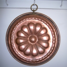 VINTAGE COPPER CAKE MOULD