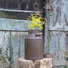 AN ORIGINAL FRENCH MILK CHURN