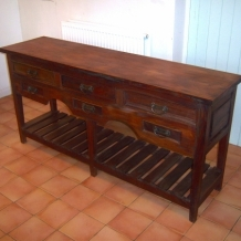LARGE CONTEMPORARY MAHOGANY SIDEBOARD