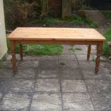 LARGE FARMHOUSE SOLID PINE TABLE