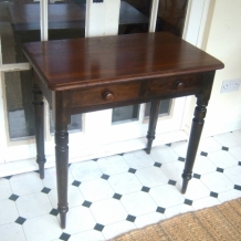 ANTIQUE PINE AND OAK CONSOLE TABLE