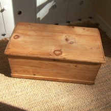 WAXED ANTIQUE PINE CHEST