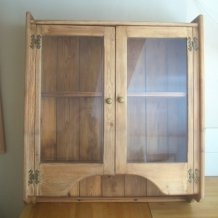 GLASS FRONTED WALL MOUNTED DRESSER