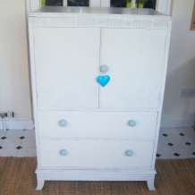 VINTAGE PAINTED CUPBOARD WITH DRAWERS