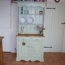 PAINTED FARMHOUSE PINE KITCHEN DRESSER