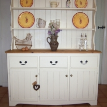 GOOD CREAM PINE KITCHEN DRESSER