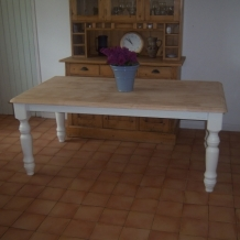 LARGE PAINTED FARMHOUSE TABLE