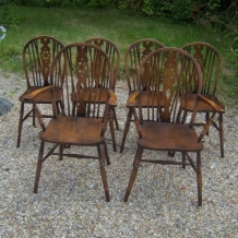 SET OF SIX WHEELBACK CHAIRS