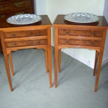 PAIR OF GEORGIAN STYLE SIDE TABLES