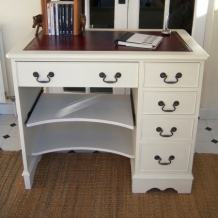 PEDESTAL DESK PAINTED IN FARROW  BALL