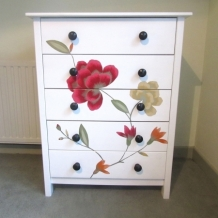 DECOUPAGE CHEST OF DRAWERS
