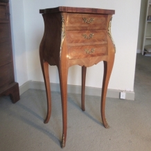 FRENCH VINTAGE MARQUETRY SIDE TABLE