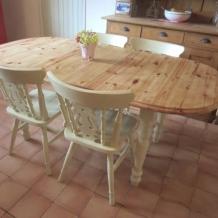 PAINTED PINE DINING SET