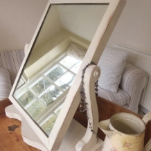ANTIQUE SHABBY CHIC TILT MIRROR