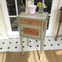 ANTIQUE PAINTED FRENCH CHEVET