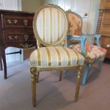 ANTIQUE 19th C. GILDED CHAIR