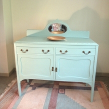 PAINTED, VINTAGE OAK SIDEBOARD