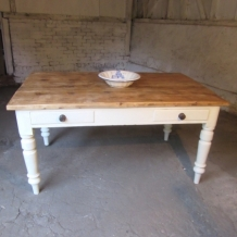 PLANK TOP DINING TABLE