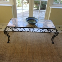 RETRO MARBLE & IRON COFFEE TABLE
