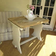 SOLID ELM, SHABBY CHIC TABLE