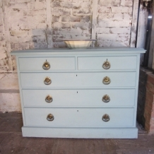 PAINTED, SOLID OAK, VINTAGE DRAWERS