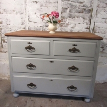 ANTIQUE PAINTED MAHOGANY DRAWERS